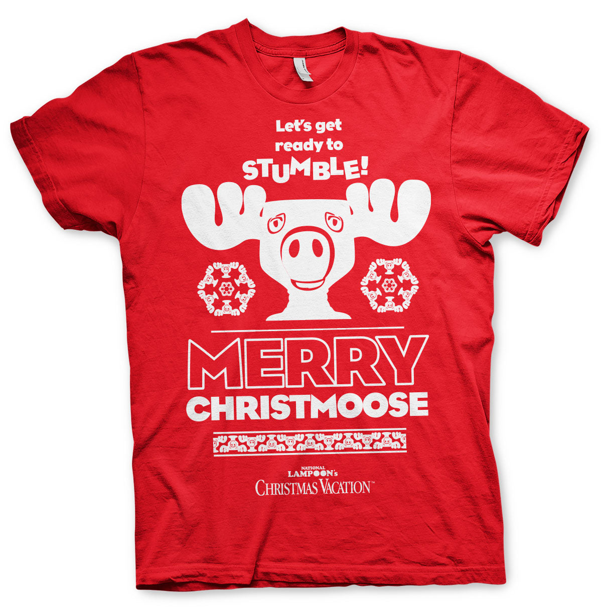 National Lampoon's Christmas Merry Christmoose T-Shirt Red - Amhero