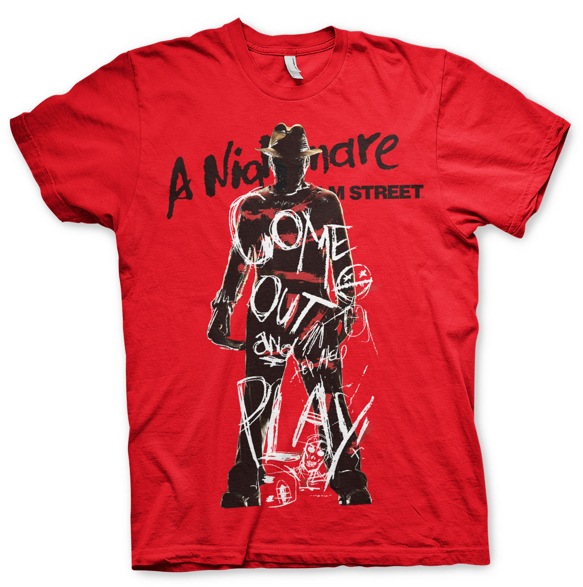 Nightmare On Elm Street Come Out And Play T-Shirt - Amhero