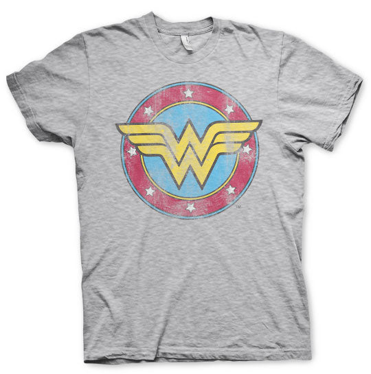 DC Comics  Wonder Woman Distressed Logo T-Shirt - Amhero