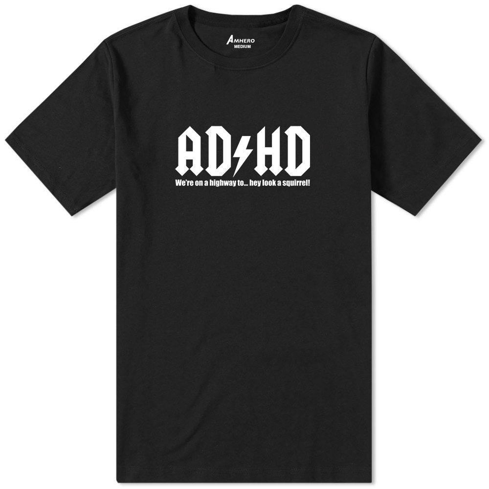 ADHD T-Shirt Black - Amhero