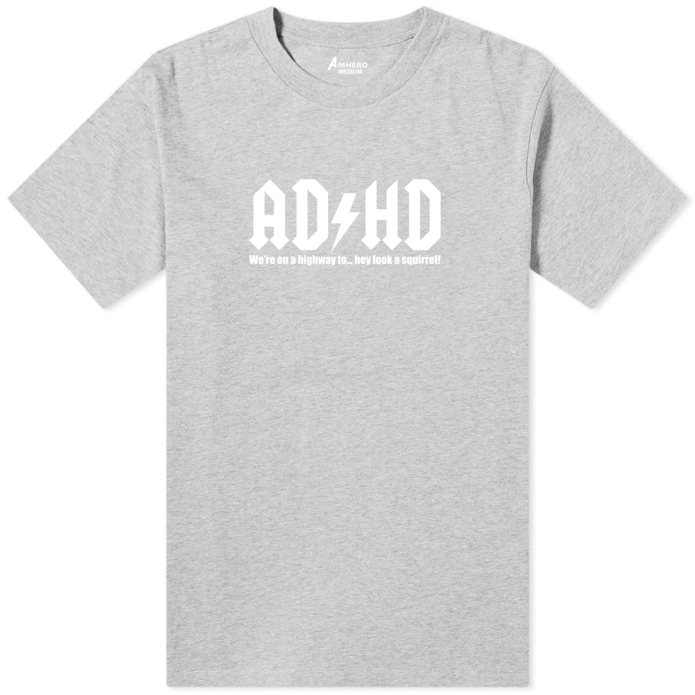 ADHD T-Shirt Grey - Amhero