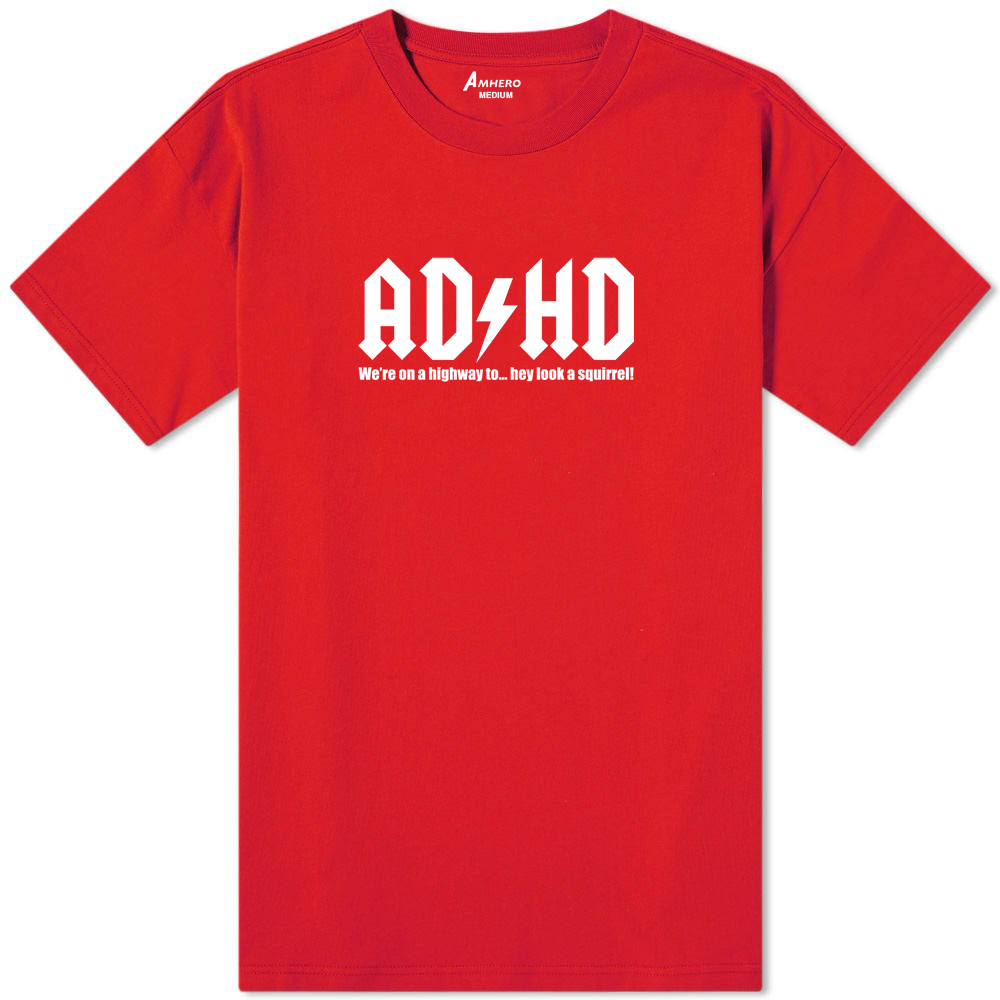 ADHD T-Shirt Red - Amhero