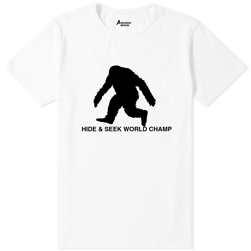 Big Foot Hide & Seek World Champ T-Shirt White - Amhero