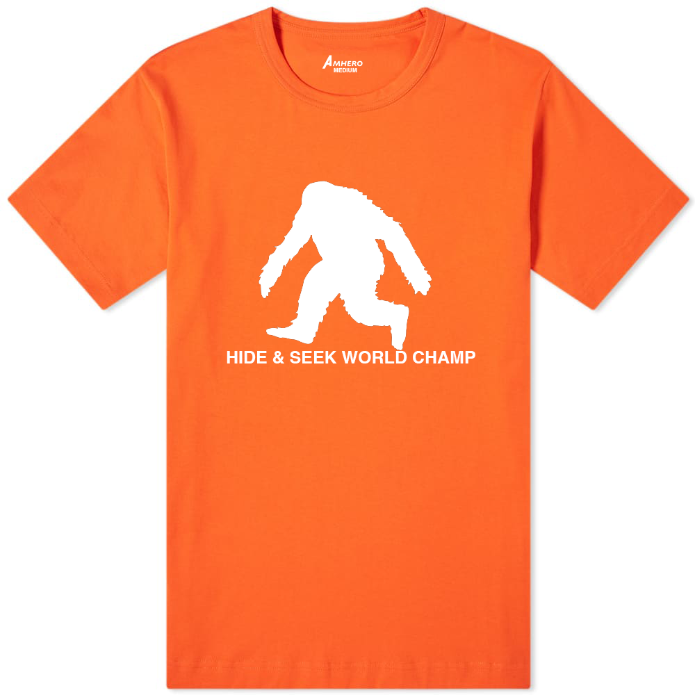 Big Foot Hide & Seek World Champ T-Shirt Orange - Amhero