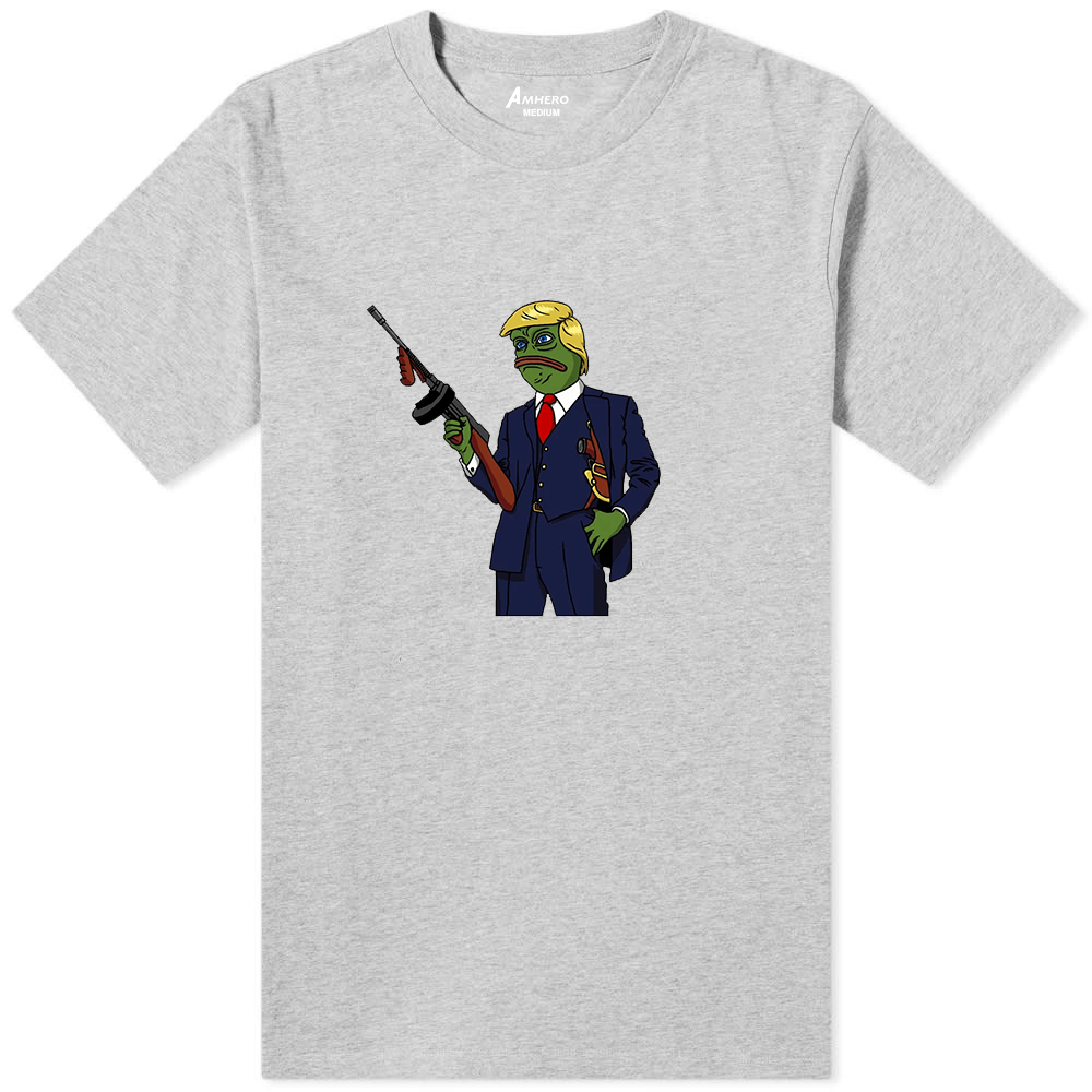Donald Trump Frog T-Shirt Grey - Amhero