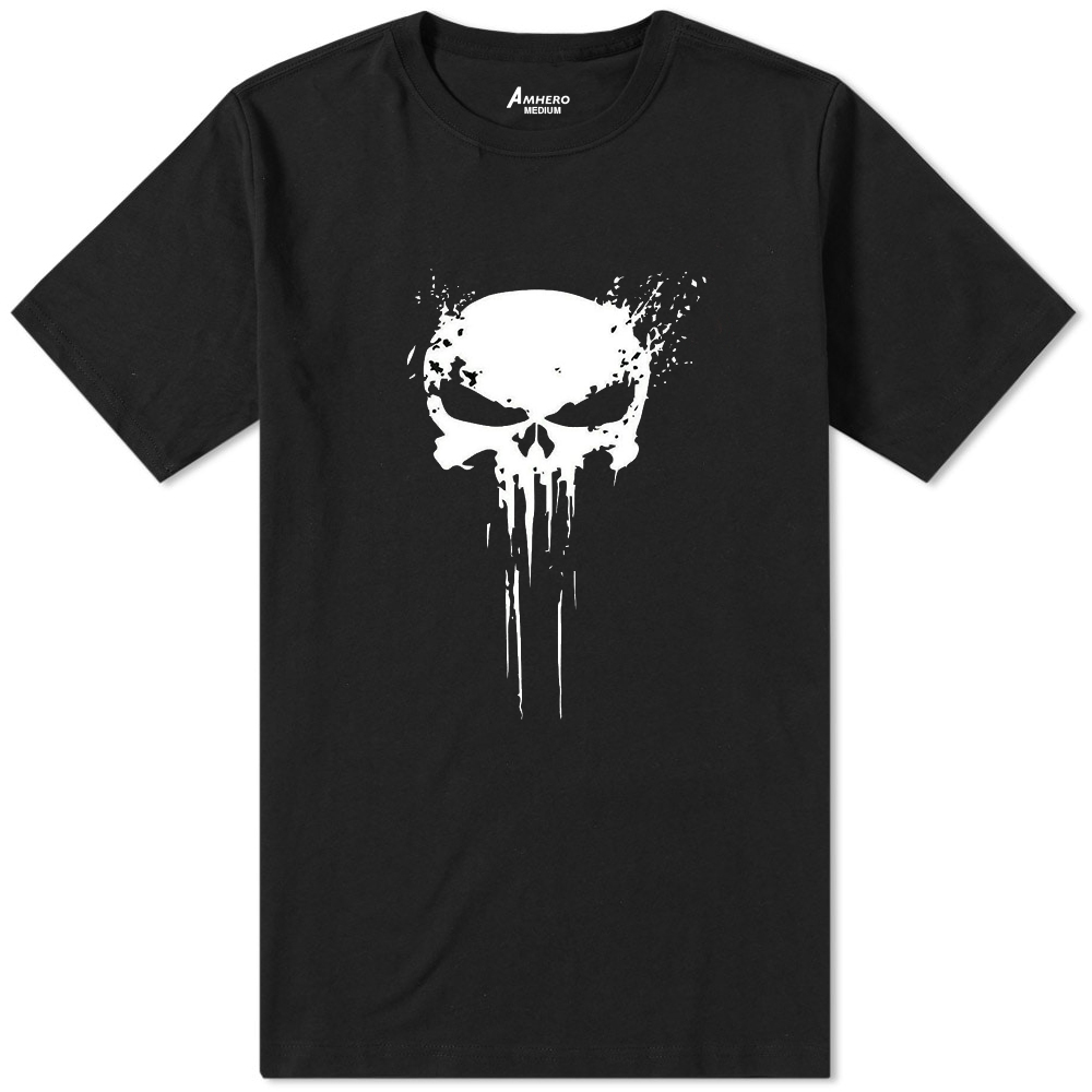 Punisher Skull T-Shirt Black - Amhero