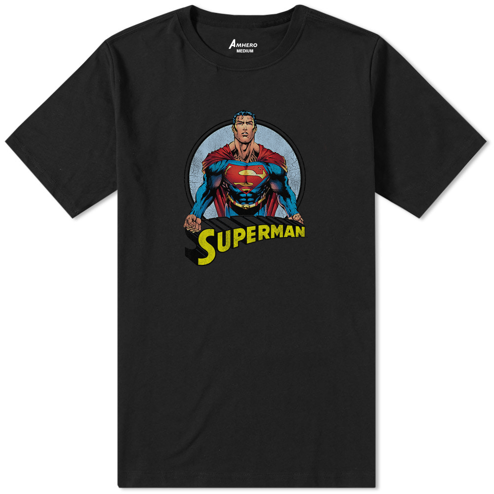 Superman T-Shirt Black - Amhero