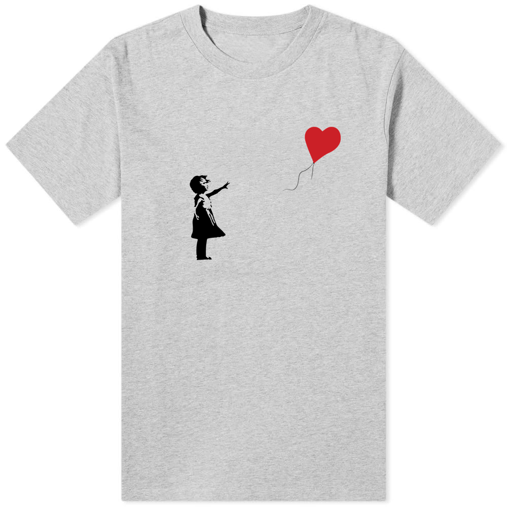 Banksy Balloon T-Shirt Grey - Amhero