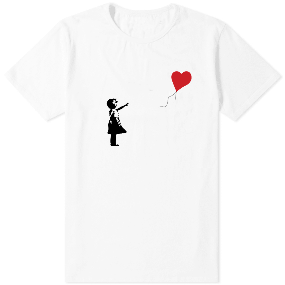 Banksy Balloon T-Shirt White - Amhero