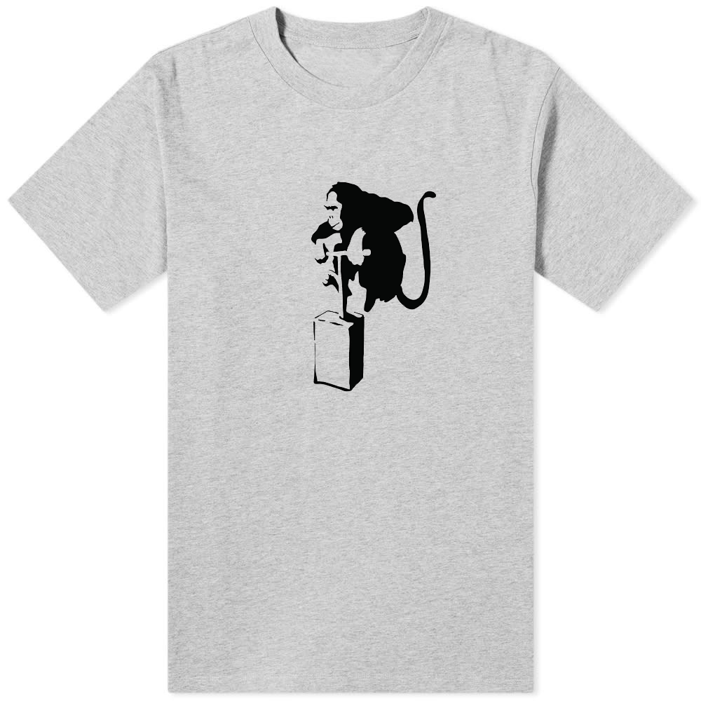 Banksy Monkey Detonator T-Shirt Grey