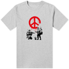 Banksy Peace T-Shirt Grey - Amhero