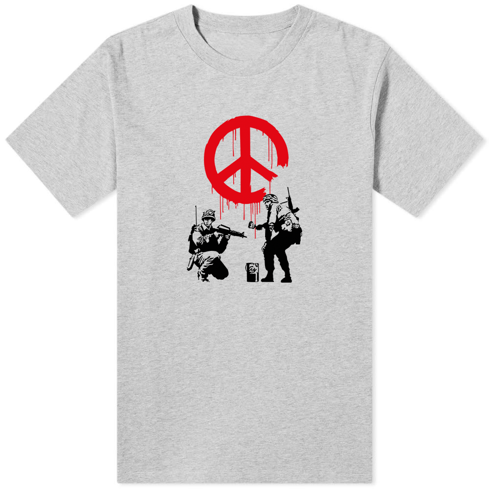 Banksy Peace T-Shirt Grey