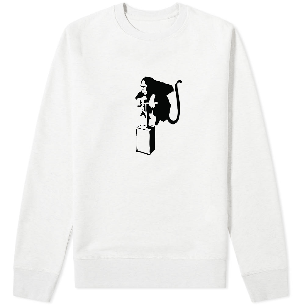 Banksy Monkey Detonator Sweater White - Amhero