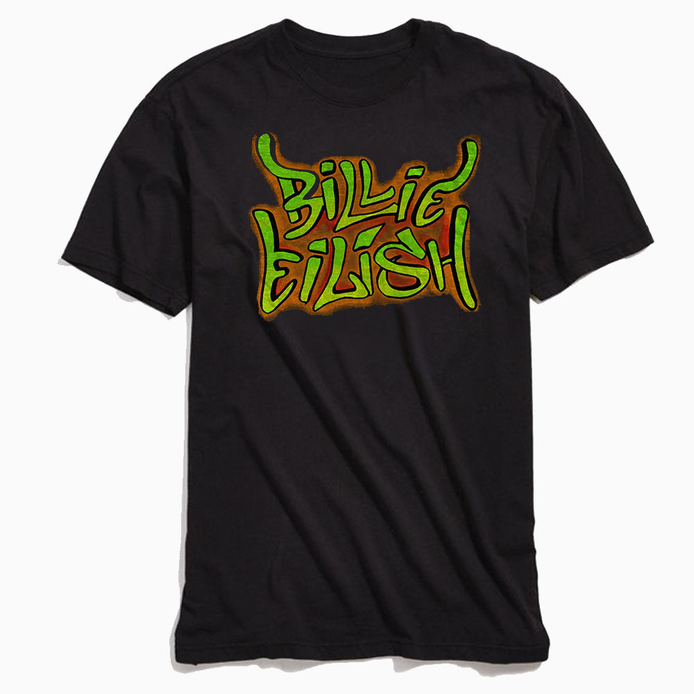 Billie Eilish Graffiti T-Shirt Black