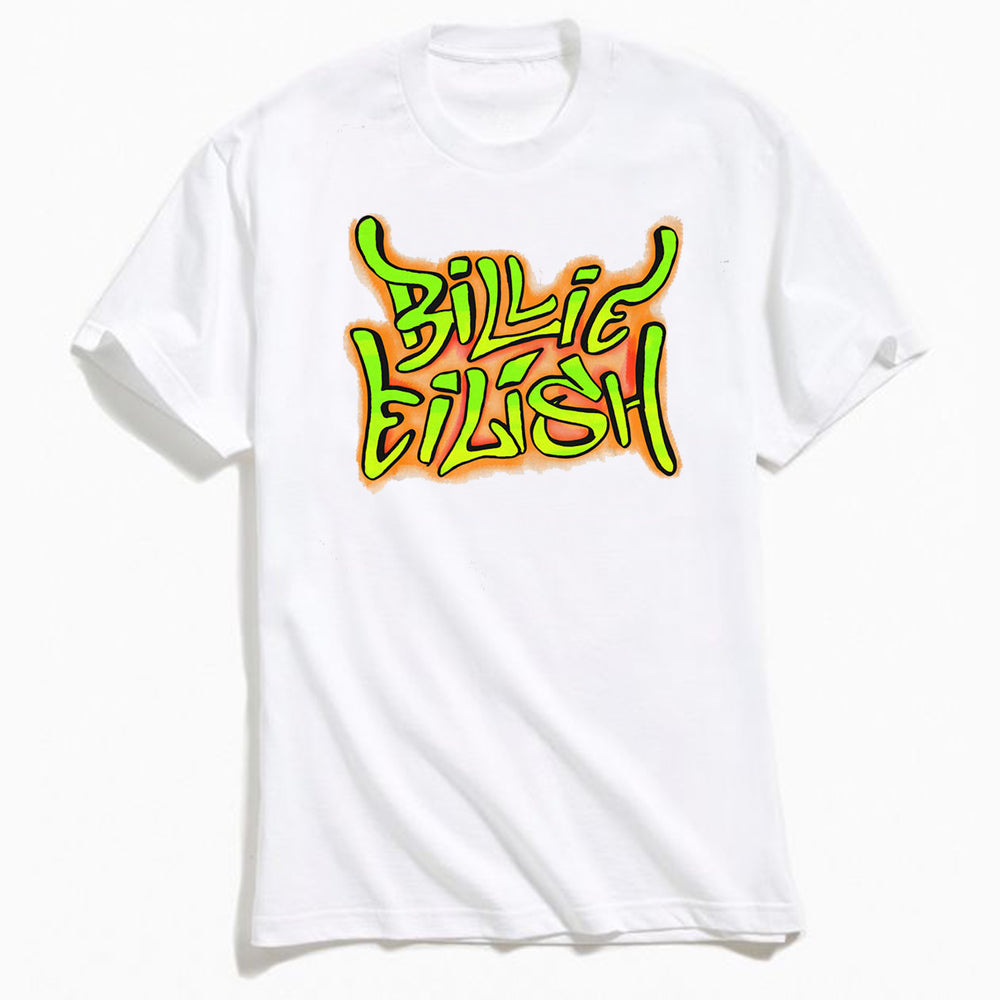 Billie Eilish Graffiti T-Shirt White