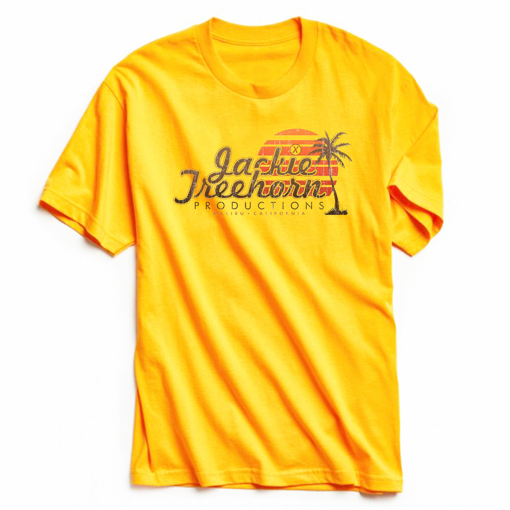 Jackie Treehorn Productions T-Shirt Yellow