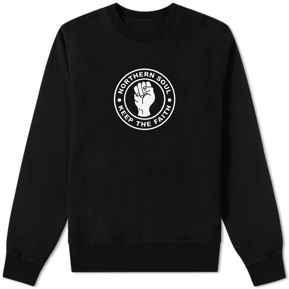 Northern Soul Keep The Faith Sweater Black