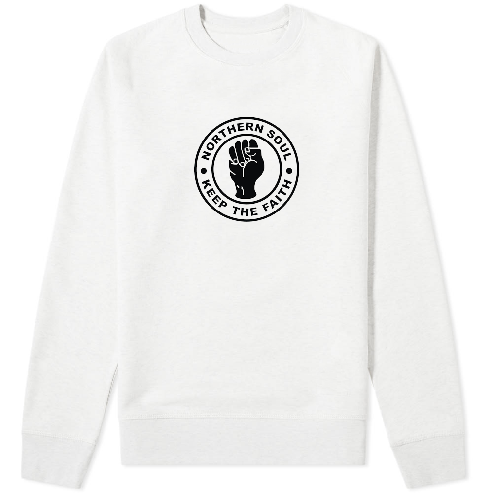 Northern Soul Keep The Faith Sweater White