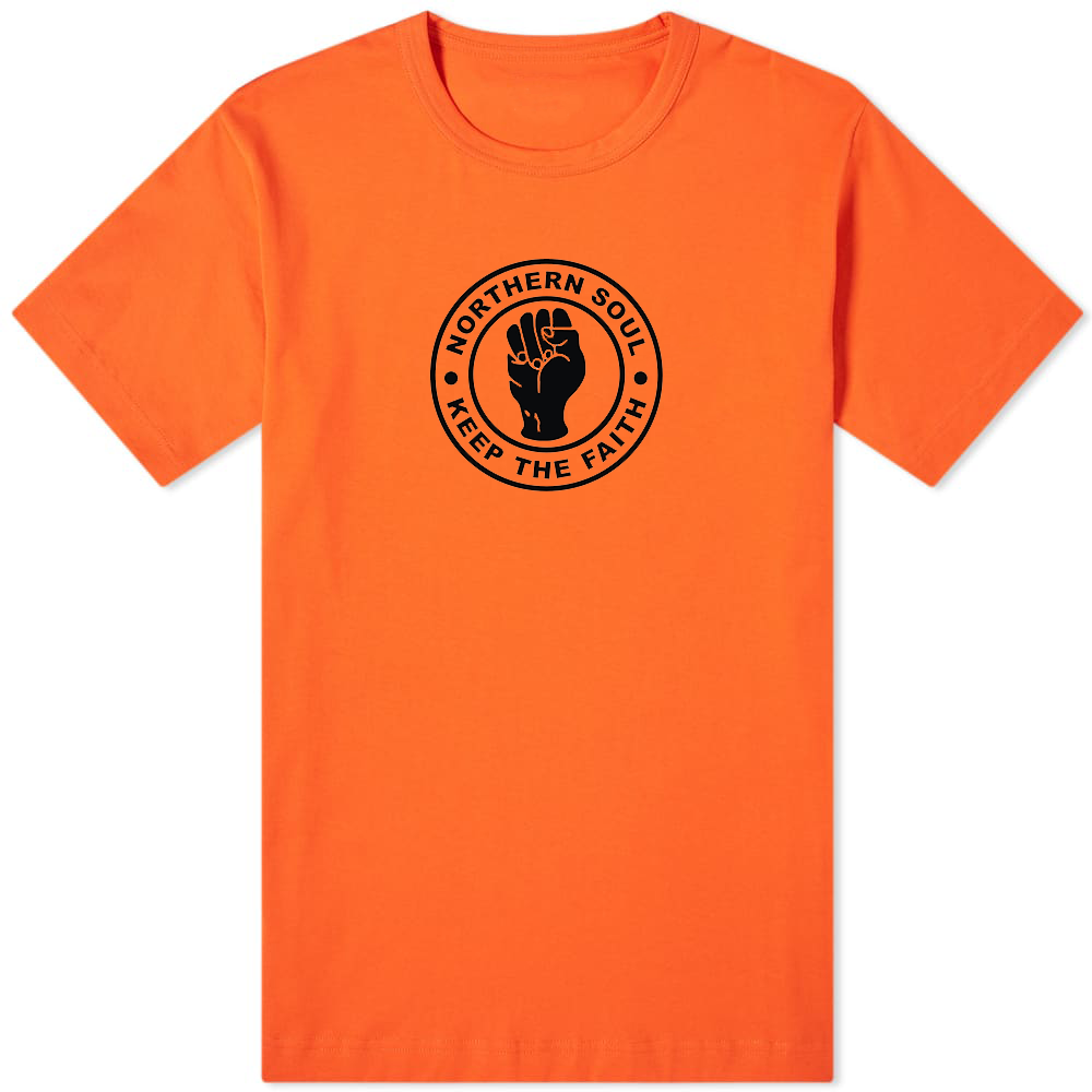 Northern Soul Keep The Faith T-Shirt Orange