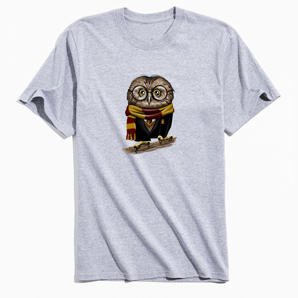 Vincent Trinidad Owly Potter T-Shirt Grey - Amhero