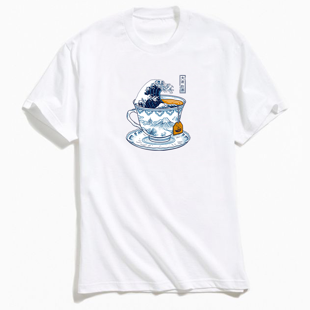 Vincent Trinidad The Great Kanagawa Tea T-Shirt White