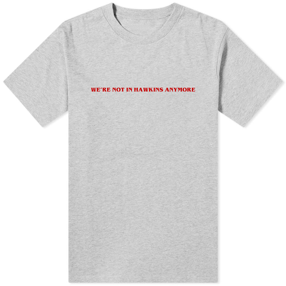 We're Not In Hawkins Anymore T-Shirt Grey
