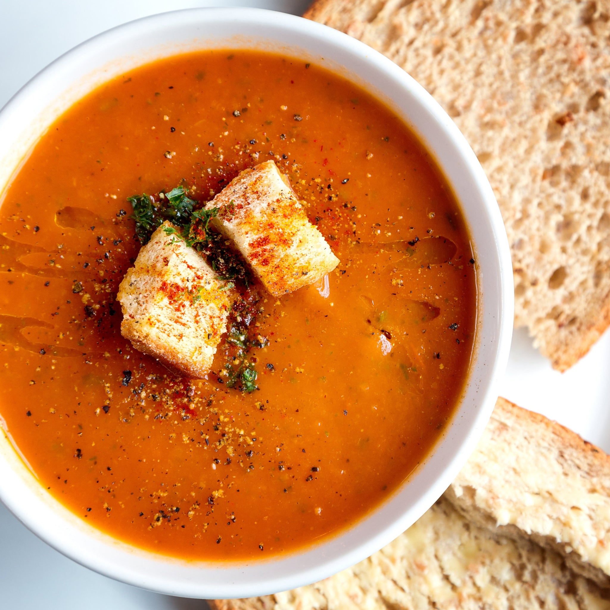 Soup & Bread (SERVES 2)