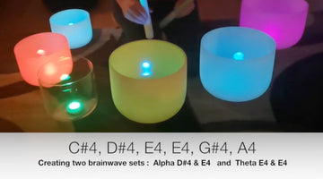 Alpha and Theta Brainwaves with D#4 and E4 Crystal Singing Bowls