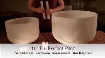 Comparing Two F3 Crystal Singing Bowls