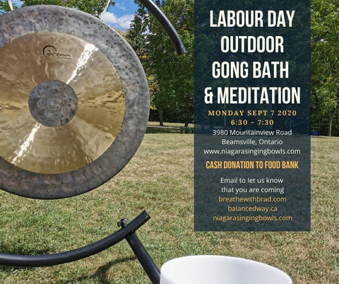 Labour Day Gong Bath and Meditation