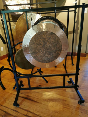 "22"" to 26"" Square Gong Stand with Wheels"