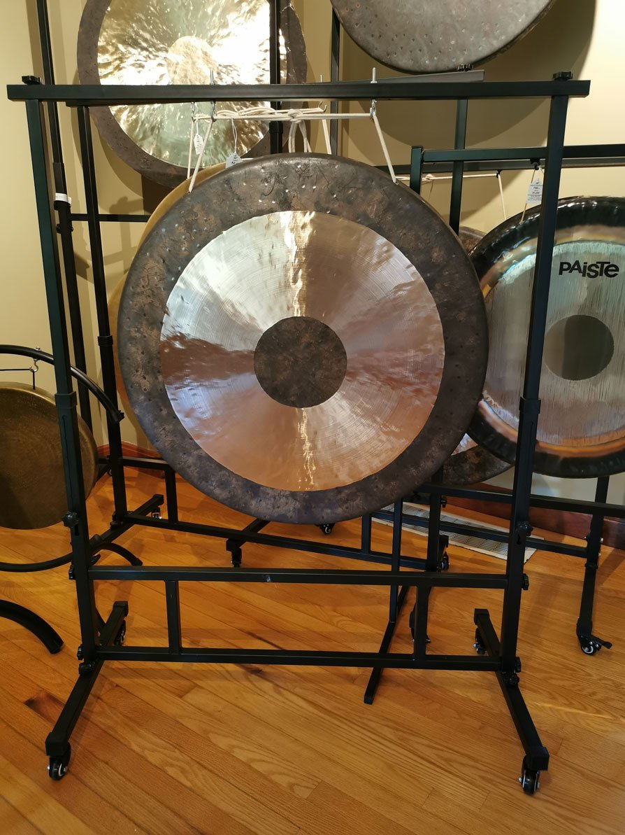 "28"" to 32"" Square Gong Stand with Wheels"