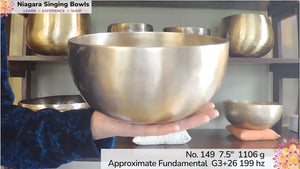 Bowl 149: G3 +26 Himalayan Singing Bowl 199 hz