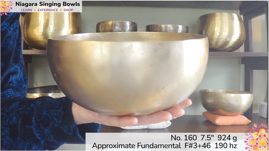 Bowl 160: F#3 +46 Himalayan Singing Bowl 190 hz