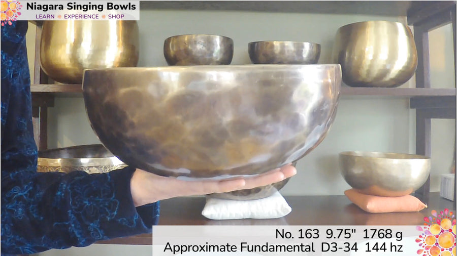 Bowl 163: D3-34 Himalayan Singing Bowl 149 hz