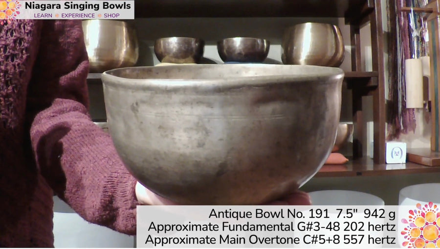 Bowl 191 : G#3-48 Antique Himalayan Singing Bowl 202 hz