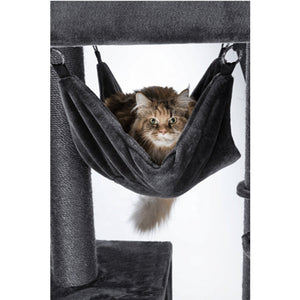 Black 'Lux' Cat Playhouse with Hammock