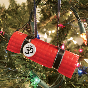Yoga Mat Ornament - red