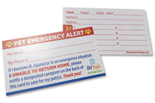 Load image into Gallery viewer, Pet Emergency Alert Cards
