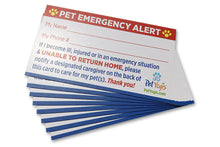 Load image into Gallery viewer, Pet Emergency Alert Card / Pet Home Alone Card
