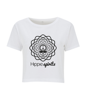 Load image into Gallery viewer, WOMEN'S CROPPED T-SHIRT WHITE