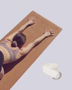 Cork Yoga Mat And Strap Bundle - Ananday