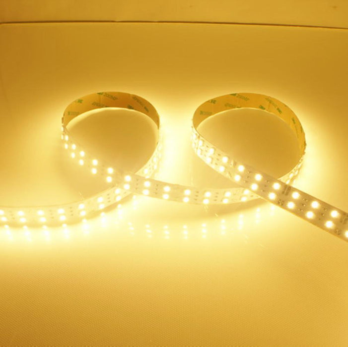 DC 12V Dimmable SMD3528-1200 Double Row Flexible LED Strips 240 LEDs Per Meter 15mm Width 1200lm Per Meter - LEDStrips8