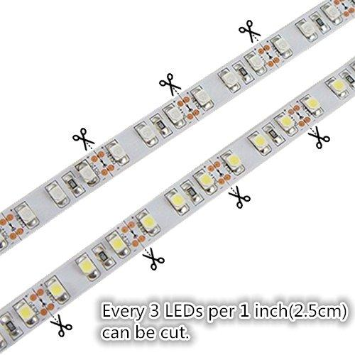 DC 12V Red/Blue/Green/Yellow Dimmable SMD3528-600 Flexible LED Strips 120 LEDs Per Meter 8mm Width 600lm Per Meter - LEDStrips8