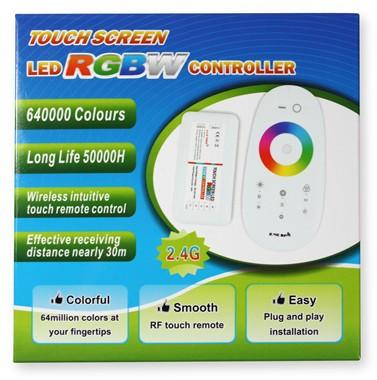 RGBW 2.4G RF Wireless Remote Controller with Color Ring Touchable Remote for 12V or 24V RGBW / RGBWW Color LED Flexible Strip Lights - LEDStrips8