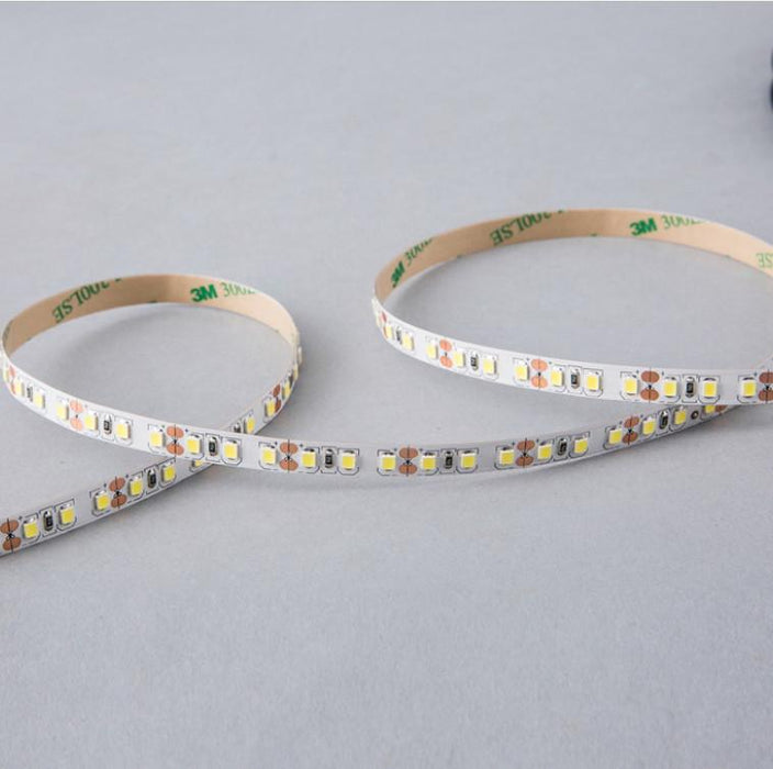 DC12V Red/Blue/Yellow/Green 84W 7A 5Meter (16.4Ft) SMD2835 600LEDs/Roll Color Rendering Index CRI80 Flexible LED Strips 1900LM/M 8mm Wide White PCB - LEDStrips8