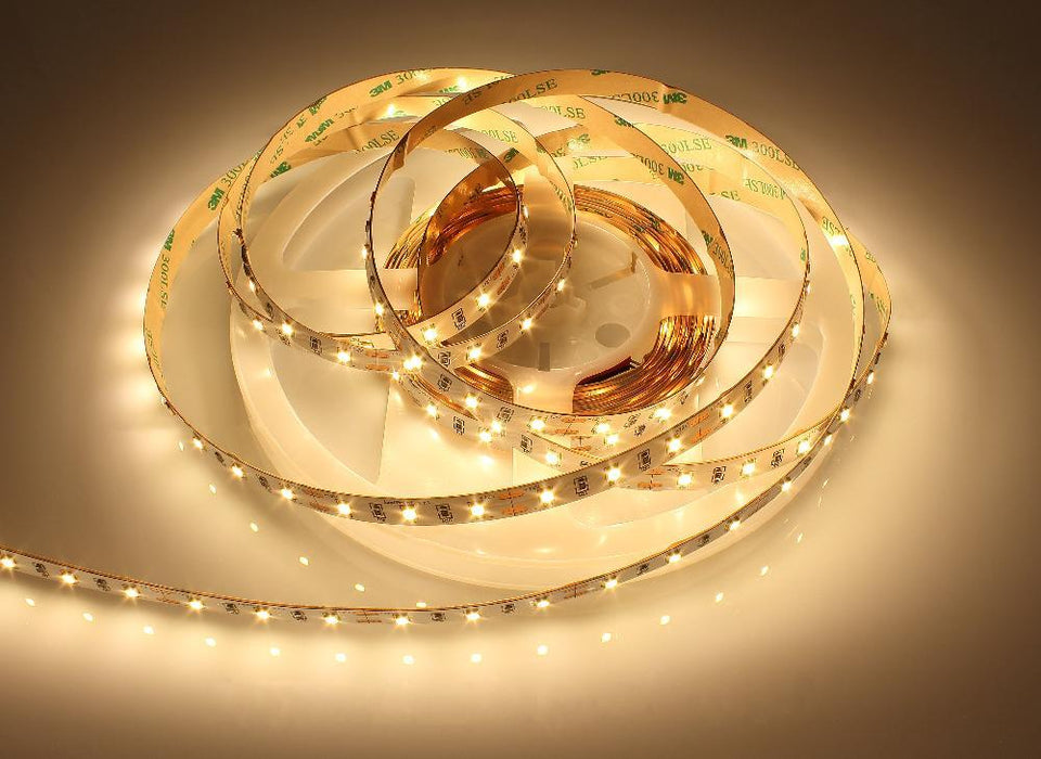 16.4Feet (5Meter) Roll SMD2835 300LED 12VDC 60Watt Rated True Color CRI95+ High Color Accuracy LED Flexible Strip Light that Produce 380nm-780nm Full Spectrum Natural Light