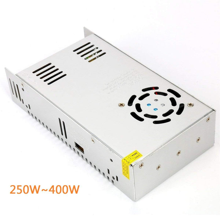 Heavy Duty Industrial Series Metal House Screw Terminal Adapter 110-220V AC to 12V/24V/5V DC - LEDStrips8