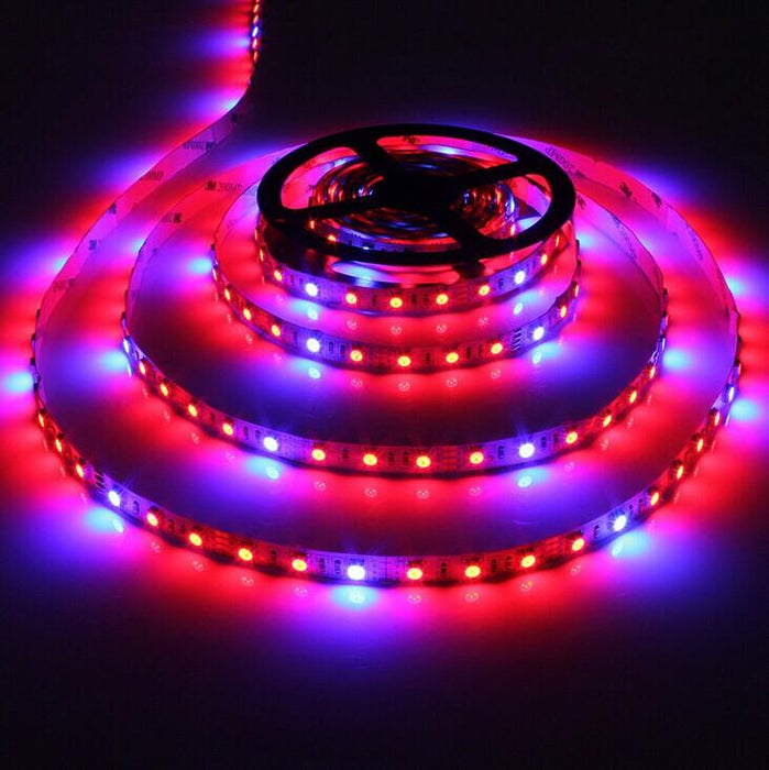 Plant Growth RED:BLUE /660nm:460nm  LED Grow Light  SMD5050 30LEDs  7.2W Per Meter Strip - LEDStrips8