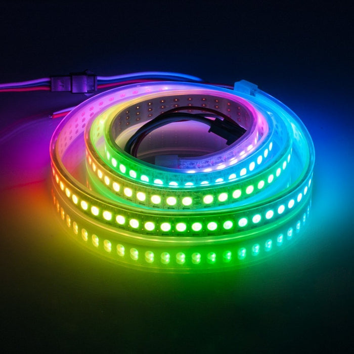 DC 5V SK6812 Individually Addressable LED Strip Light 5050 RGBW 6.6 Feet (200cm) 144LED/Meter LED Pixel Flexible Tape White PCB - LEDStrips8
